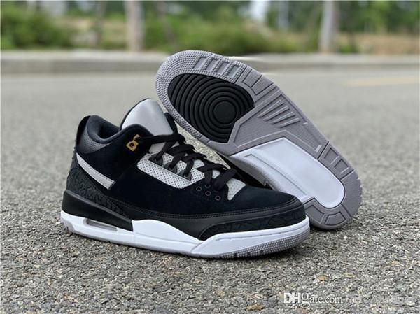 2019 Authentic 3 Tinker Black Sliver CK4348-007 Suede 3M Reflective argente 3S III Hombres Zapatillas de baloncesto Zapatillas deportivas 24CajasJordania