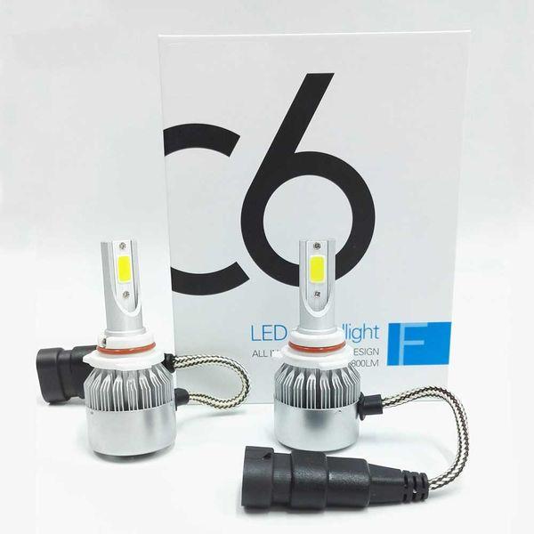 C6 Series H4 H1 H1 LED Kit de bombillas de faros delanteros 72W 7600LM 6500K Lámpara blanca fría Kits de conversión LED Super Brillantes con COB CHIPS