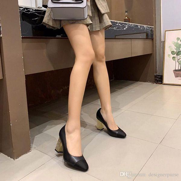 Designer Square Toes High Heels Luxus Leder Metallic Pumps Blockabsatz Sandalen Frauen Riemchen Kleid Rock Schuhe Mode Ziegenleder Sandalen