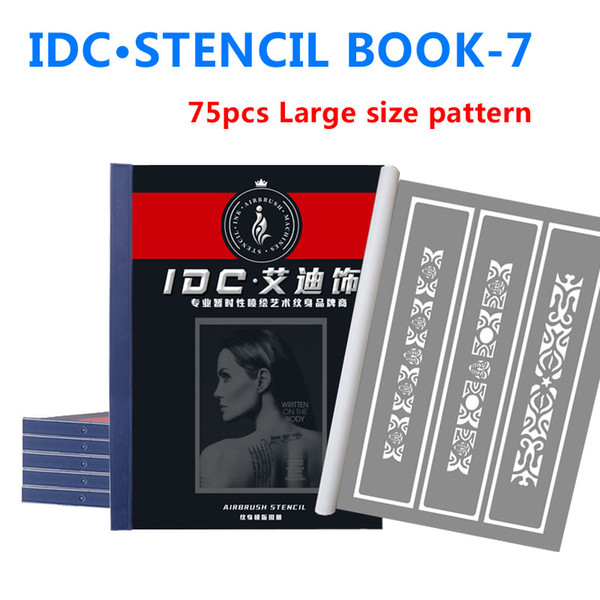 Tattoo Stencils Spray Body Art Painting For Temporary Airbrush Makeup 75 Flower Arm Pattern Tattoo Stencil Booklet Wholesale 7 Fake Tattoos Lower Back