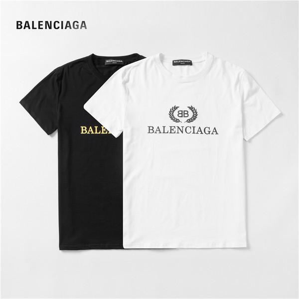 BALENCIAGA T Gömlek Mens Yaz Kısa Kollu Sıcak Satış t gömlek erkek ve kadın Kısa Kollu T-Shirt Baskı gömlek Pamuk XDJ1826