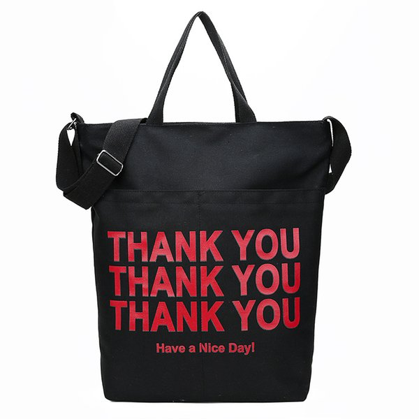 2019 printemps été nouveau shopping sac de toile femmes marée sac à main version coréenne de Joker sac à bandoulière mode tote