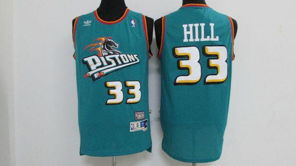 size 40 bb1a4 d6c57 2019 Mitchell Ness Basketball Jerseys Retro 33 Grant Hill Pistons Jerseys  Stitched Hardwood Classic Mesh NCAA Grant Hill Retro Basketball Jerseys  From ...