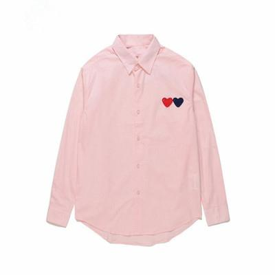Best-selling T-shirt PLAYS tshirts Japanese Tide brand peach heart long-sleeved shirt men and women with cotton pink double heart cardigan