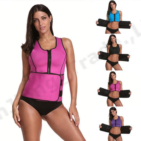 Neoprene Body Shaper Women Slimming Vest Thermo Fitness Trainer Neoprene Sauna Heat Vest Adjustable Waist Trainer Body Belt S-4XL A42307