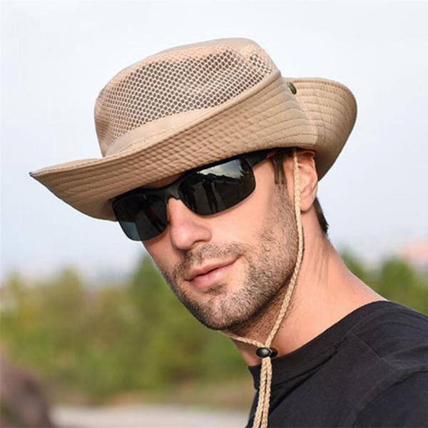 Anti-UV-Sonnencreme Angeln Hut Unisex faltbare Kappe für Strand Wandern