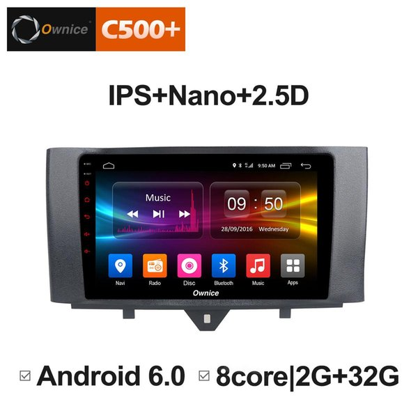 "9"" 2.5D Nano IPS Screen Android Octa Core/4G LTE Car Media Player With GPS RDS Radio/Bluetooth For Benz Smart 2011~2015 #5897"