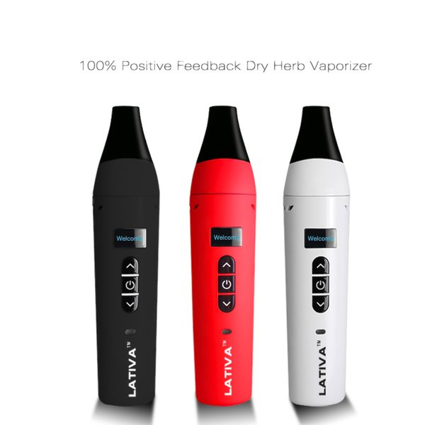 100% Original Airis Lativa Dry Herb Vaporizer Kit 2200mAh Temperature Control Battery Herbal Vape Pens With OLED Digital Display