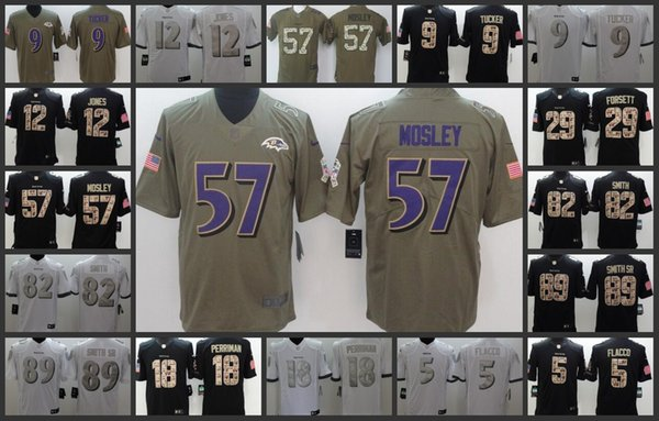 7bdaa8198 Baltimore Ravens Embroidery Men Jersey  9 Justin Tucker 5 Joe Flacco 57  C.J. Mosley Women Youth Football Jerseys