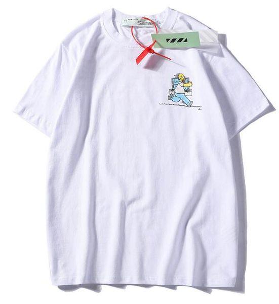 2019 NEW cartoon pictures fashion Black White Red Letter Printing Men Women Business Leisure T-shirt 100% Cotton Autumn Shirts size M--XXL