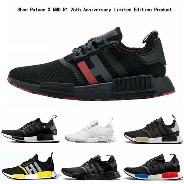 new product ee3ee a082a NMD R1 Running Shoes OREO Thunder Runner Triple Black White Men Women  Runner Sports Sneakers Shoe Palace X NMD R1 Limited Edition Men Sports  Shoes ...