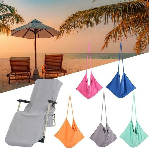 5Colors Beach Lounge Chair Cover Towel Bag Sun Lounger Mate Holiday Garden Buddy