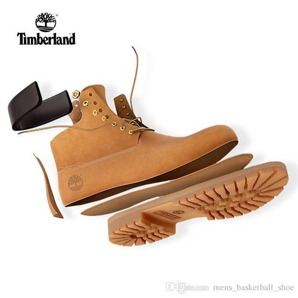Original Timberland Shoes Mountaineering Shoes Designer Sports Running Shoes For Men Women Sneakers Trainers Waterproof Yellow Shoes Gold Shoes From