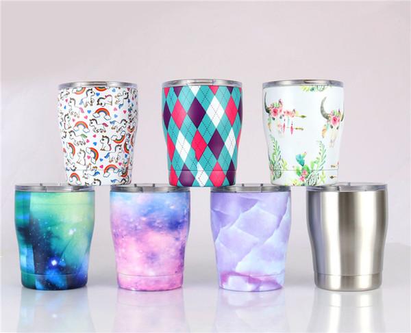 Neue 12 unze edelstahl wein gläser doppelwandigen vakuum ei tassen mit deckel kinder milch tasse kaffee bier glas reisebecher