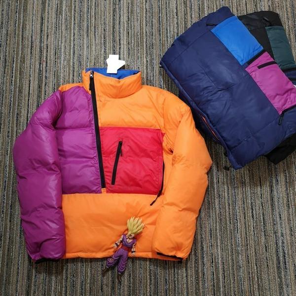 18SS PERTEX DOUBLURE Color Matching Veste en coton Pain Hip Hop Planche à roulettes Fermeture éclair unisexe coupe-vent Manteaux Rue Outwear HFYMJK176