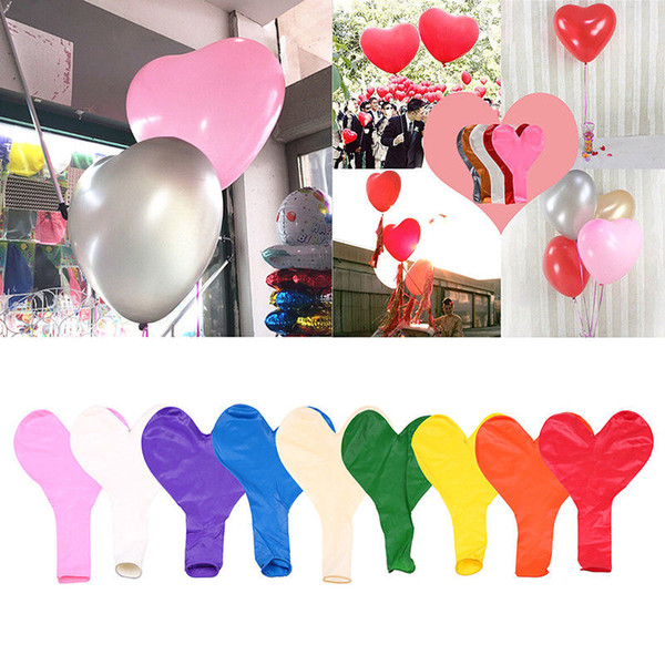 36 Inch Heart Latex Balloon 9 Colors Love Shaped Large Giant Ball Valentine Wedding Party Decoration OOA6538