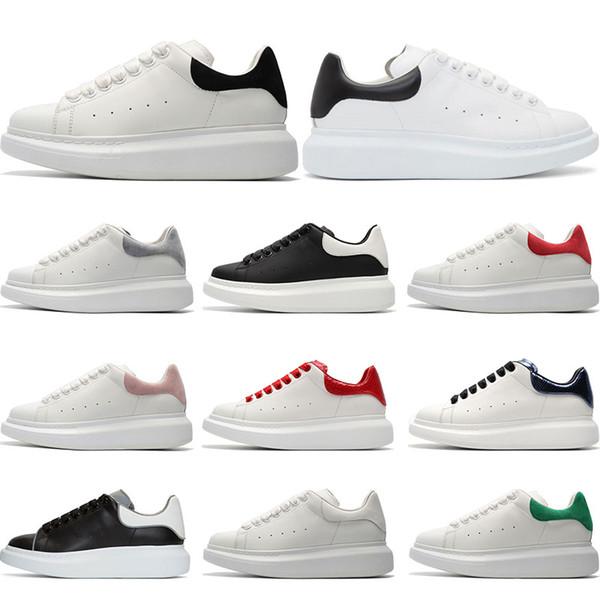qualité supérieure énorme inventaire invaincu x Acheter Alexander McQueens 3M Réfléchissant Luxe Blanc En Cuir Casual  Chaussures Fille Femmes Hommes Noir Or Rouge Rose Mode Confortable Plat  Sneaker ...