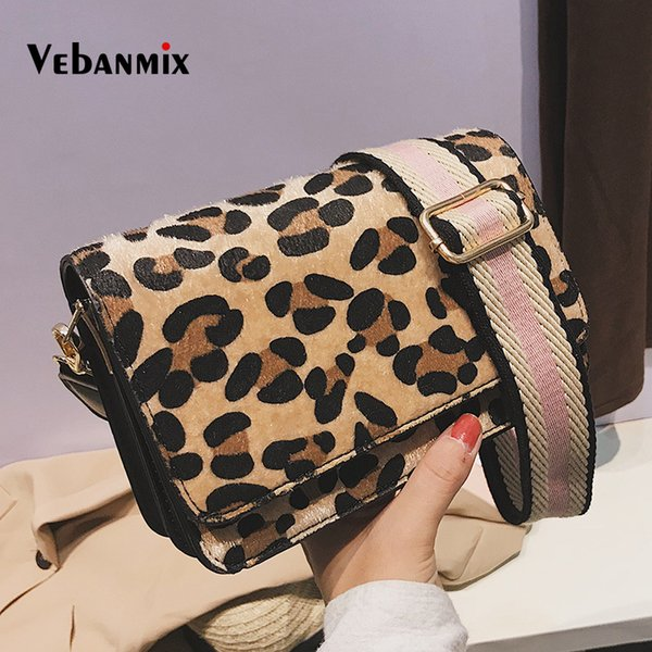 Fashion Leopard Print Small Flap Crossbody Bags For Women 2018 Winter Menssenger Bags Lady Shoulder Hand Bag Handbags Retro