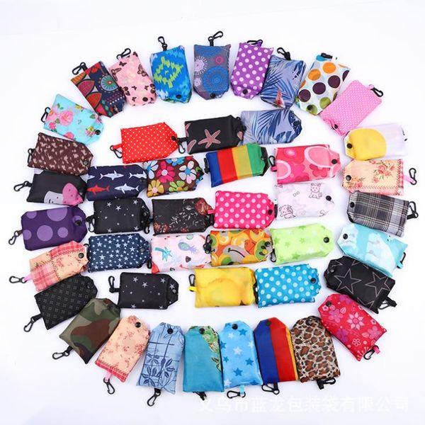 Sacchetti di spesa pieganti del sacchetto di immagazzinaggio del sacchetto del fiore del sacchetto di immagazzinaggio del sacchetto del fiore del sacchetto del sacchetto del regalo creativo di viaggio T5I6018