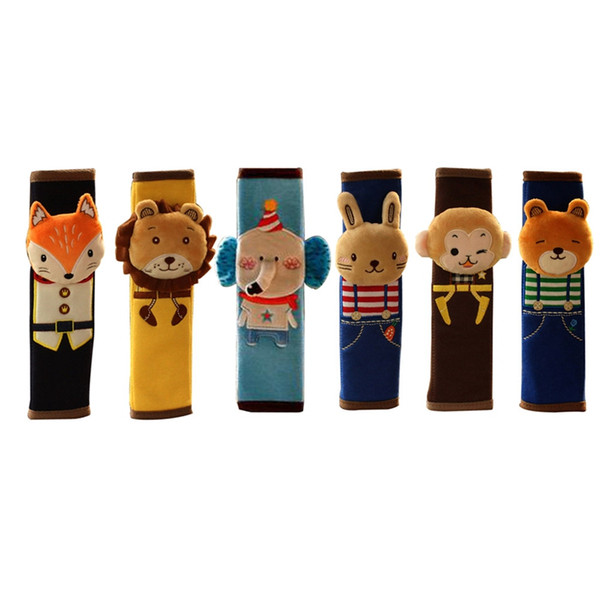 Children Cartoon Safety Seat Belt Shoulder Pads Cute Plush Seat Harness Shoulder Pad Car Auto Pillow Padding Belt