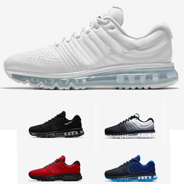 Acquista Nike Air Max 2017 White Vapormax Nmd Jordan Asics Skeshers Designer Shoes Kanye Platform Basketball Donna Triple Nero Bianco Designer