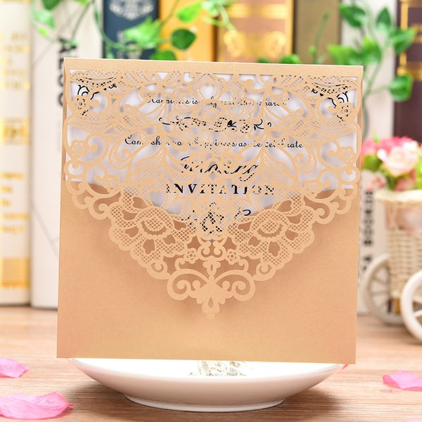 Pearl Paper Invitations Cards For Wedding Birthday Wedding Cards With Blank Inner Sheet Invitations Card Birthday Card Designs Birthday Card Free