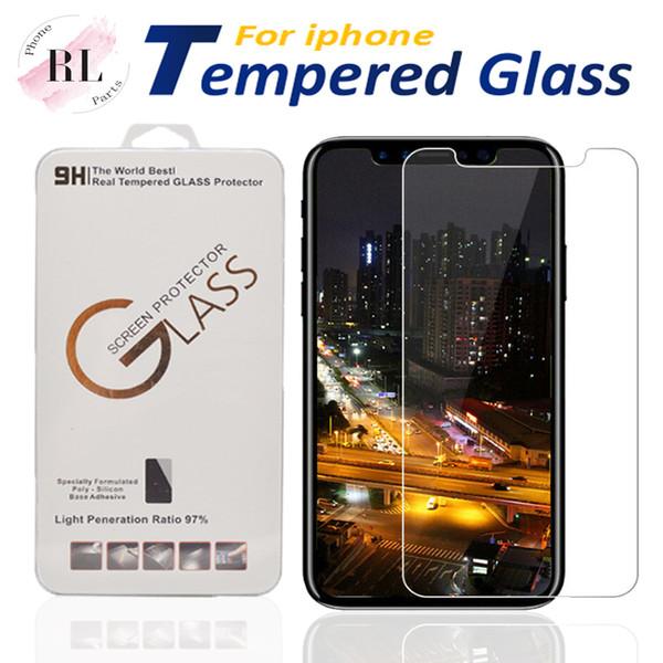 Pour iPhone 11 Pro Xs Max X XR 7 8 plus protecteur d'écran en verre trempé pour Samsung J7 J5 premier avec Paper Box