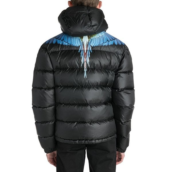 Großhandel Feder Gedruckte Schwarze Daunenjacke Männer Und Frauen Warme Und Bequeme Hochwertige Schwarze Jacke HFBYYRF069 Von Super_egg, $67.92 Auf