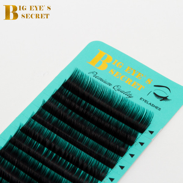 Big Eyes Secret Manufacturer Direct Supplies Individual lashes Trays Curl J B C D L Top Quality False Lashes Private Label Eyelash Extension