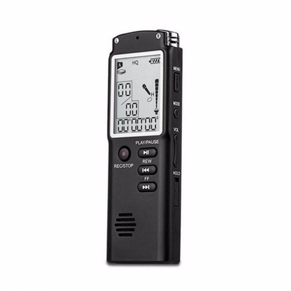 Mini T60 Professional gravação de voz Tempo dispositivo de tela grande tela Digital Audio Voice Recorder ditafone MP3 Player