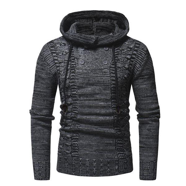 2019 New Autumn Warm High-quality Button Sweaters Man Casual Knitwear Winter Overcoat Men Kakhi Sweatwer Xxl