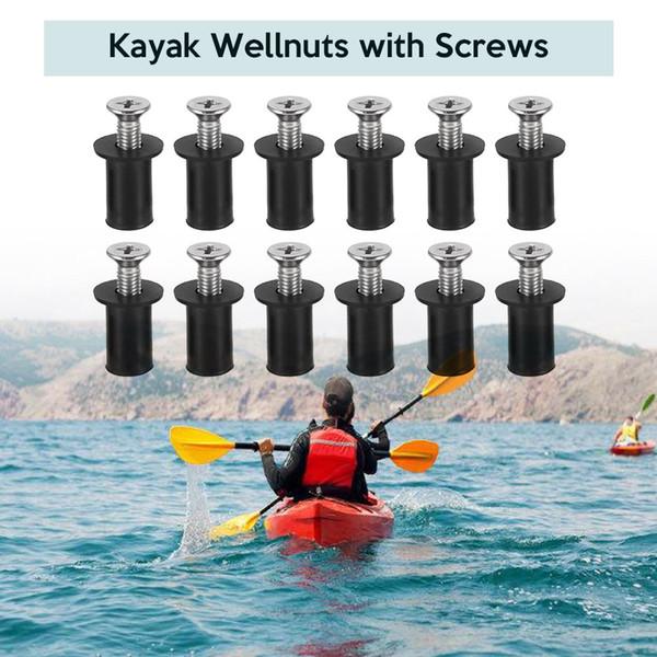 Di alta qualità 12 set ben dadi dadi ciechi di fissaggio parabrezza rivetto pesca kayak kayak canoa barca marina con vite m4 / m5 / m6 dado