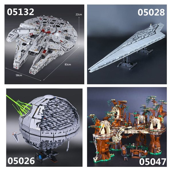 IN STOCK Star Plan 05132 05026 05027 05028 05035 05043 05047 05063 05077 05007Building Block Toys 75192 10143 10221 10236 10030 SH190915