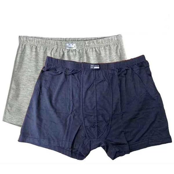 Tallas grandes Ropa interior para hombre Boxers Ropa de hombre suave Pantalones cortos de fibra de Banboo Hombres Ropa interior de boxeador Cómoda para la piel