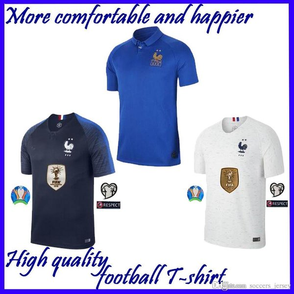 new Top quality 2019 2020 France soccer jersey POGBA GRIEZMANN MBAPPE 100th Jersey 19 20 Thailand top quality 2018 19 soccer uniform S XXXL