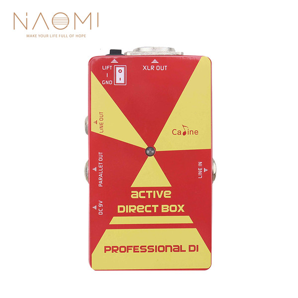NAOMI Caline Guitar Effect Pedal CP-23 DI Box Active Direct Box For Electric Guitar Ukulele Guitar Parts Accessories New