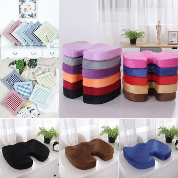 2019 Newest Hot Garden Thicker Seat Pads Dining Room Chair Cushion Kitchen  Office Soft Patio Pad Floral Plaid Solid Seat Cushion Lumbar Cushion For ...