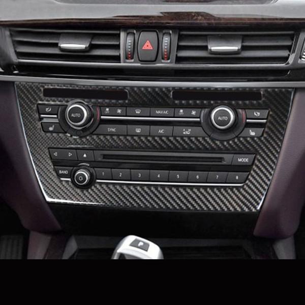 Carbon Fiber Console Air Conditioner /& CD Panel Trim Cover For BMW X5 X6 E70 E71