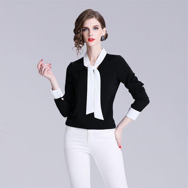 new concept d4470 2cd09 Acquista Camicia Formale OL Donna Carriera Business T Shirt Camicie  Eleganti A Maniche Lunghe Camicetta Nera Top A $30.96 Dal Sinofashion |  DHgate.Com
