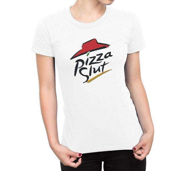 Pizza vagabunda engraçado Spoof slogan Mulheres T-shirt