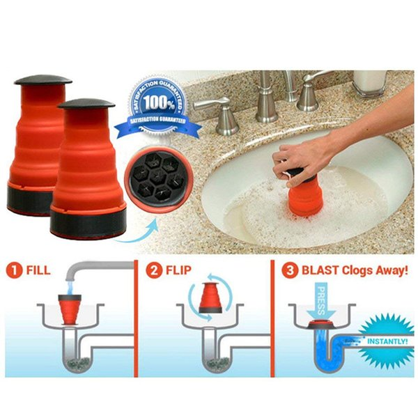 2019 Clog Cannon High Pressure Powerful Manual Air Power Drain Blaster Pump  For Bathroom Kitchen Sink Plunger Pipe Clog Remover From Goodgoods_2013, ...