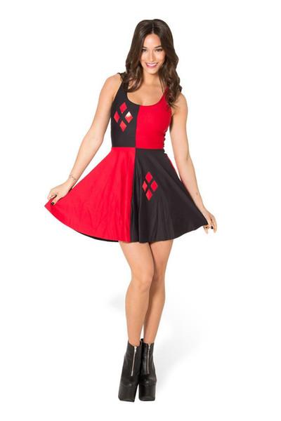 Plus size Adult Women Comics Super Harley Quinn Costume Fancy Dress Harlyquinn Cosplay HalLoween Costume for Women Clown