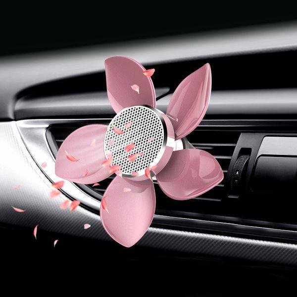 Klip Şekillendirme Yayıcı Otomobil İç Aksesuar ile Araç Hava Durumu Vent Çıkışı Döner Yapraklı Parfüm Araba Oda Parfümü