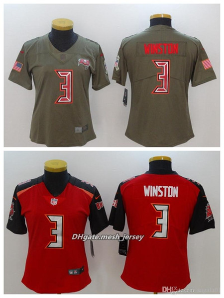 best service bb60a 78a41 2019 Women Tampa Bay American Football Buccaneers Jersey 3 Jameis Winston  Color Rush Stitching Jerseys Embroidery LOGO From Yb792, $24.37 | DHgate.Com