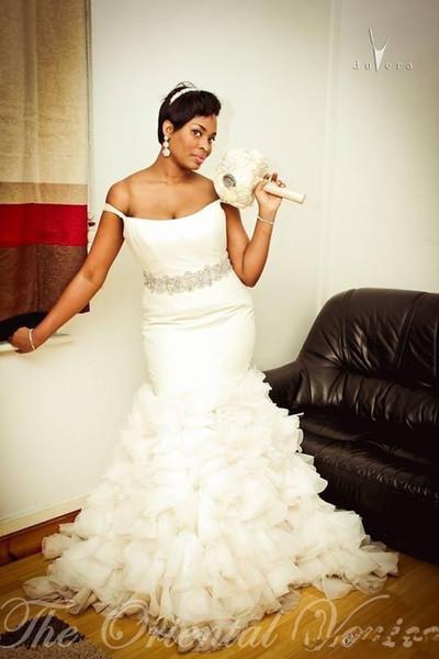 off shoulder slim mermaid wedding dresses 2019 tiered crystal waist bridal gowns plus size long vestidos de marriage custom country