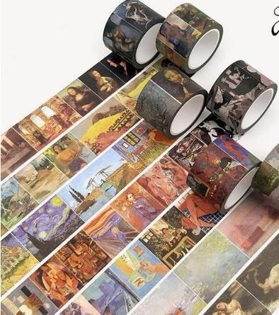 To Master Monet Painting Washi Tapes DIY Scrapbooking Sticker Label Tape School Office Supply