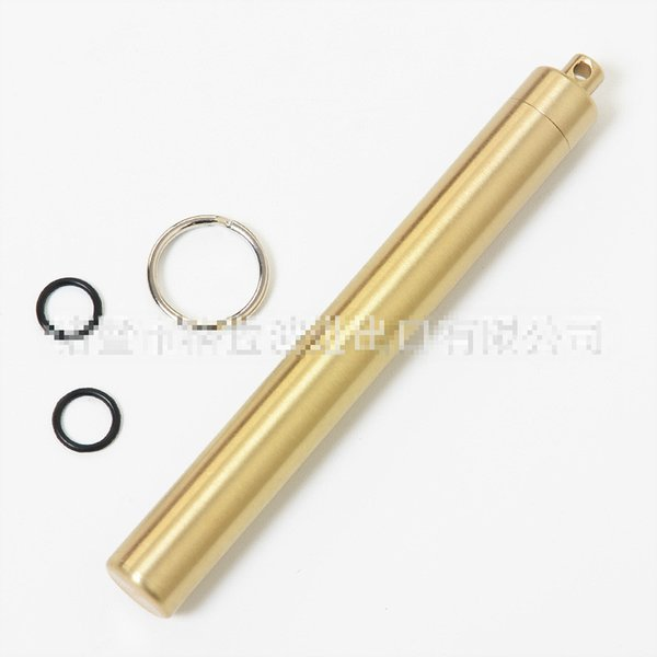 Metal Toothpick Holder Box Seal Bottle - Brass Alloy Outdoor EDC Tools Tooth Pick Case Container For Travel Emergency Survival First-aid