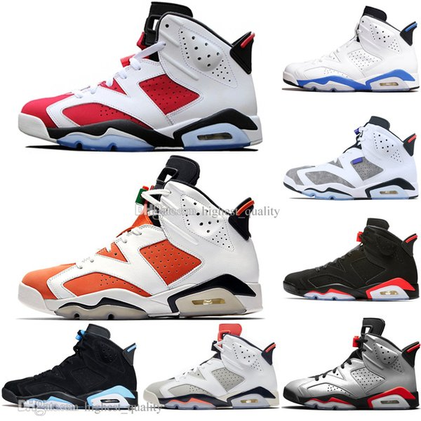 With Box 2019 Bred VI 6 6s Mens Basketball Shoes Infrared 23 3M Reflective Bugs Bunny Tinker Black Cat Men Sports Sneakers Designer Trainers
