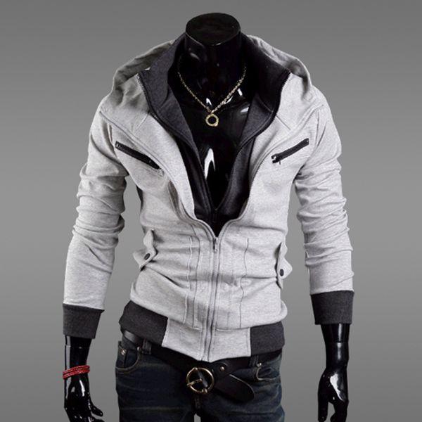 299808eb660 2019 2019 Men Hot Sale Autumn Fake Two Layer Zipper Hoodies And Sweatshirt  Color Contrast Men Hoody Jacket Sudaderas Hombre From Goodtshirt003