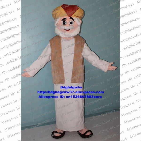 Arabic Old Man Arab People Arabian Mascot Costume Cartoon Character Outfit Suit Popular Campaign Fossick For Clients zx1746